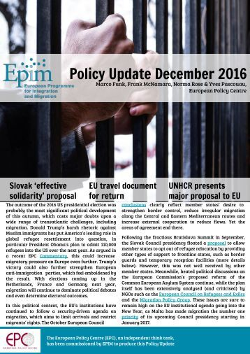 Policy Update December 2016