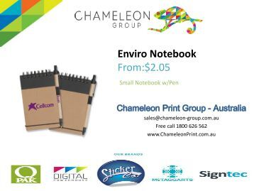 Enviro Notebook - Chameleon Print Group - Australia