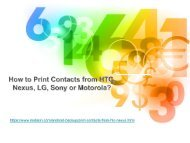 How to Print Contacts from HTC, Nexus, LG, Sony or Motorola