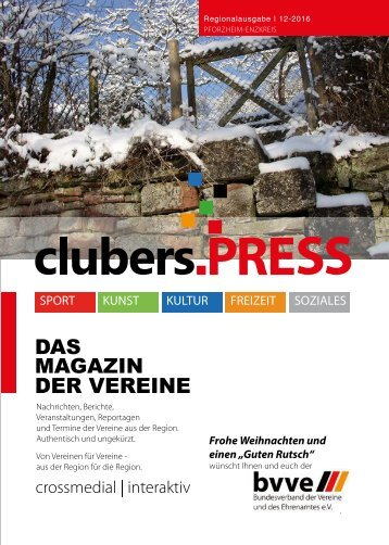 clubers.PRESS Ausgabe 12-2016 Online Interaktiv