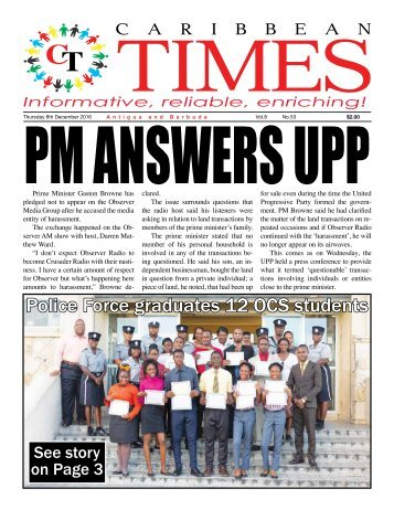 Caribbean Times 53rd Issue - Thursday 8th December 2016