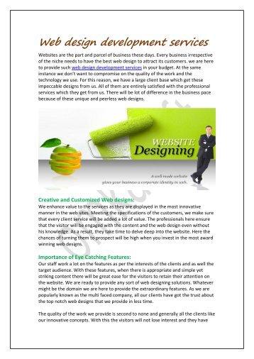 Web design developmentservices