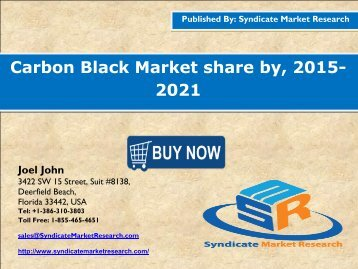 Carbon black market share by , 2015- 2021