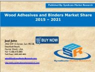 Wood Adhesives and Binders Market share by , 2015- 2021