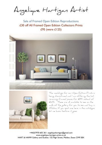 Sale of Framed Open Edition Prints - While Stocks Last 1/3 now sold