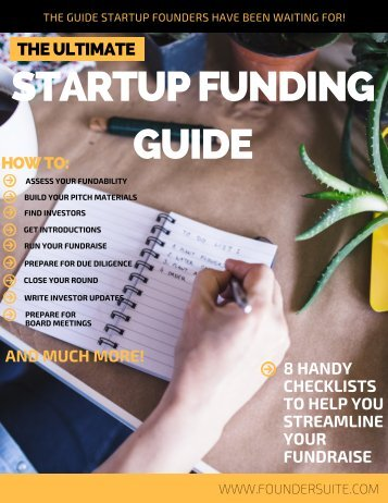 STARTUP FUNDING GUIDE