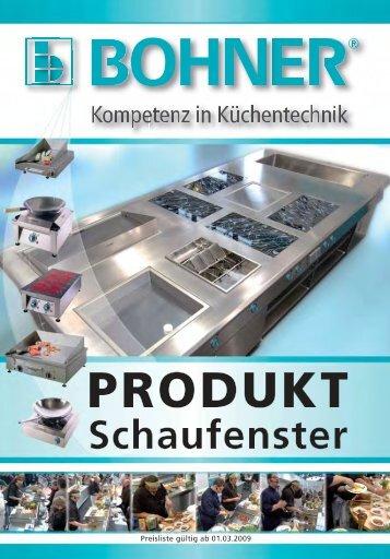 BOHNER Produktschaufenster 2009