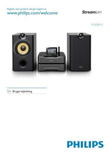 Philips Streamium Chaîne sans fil pour Android™ - Mode d'emploi - DAN