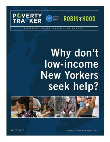 Why don't low-income New Yorkers seek help?