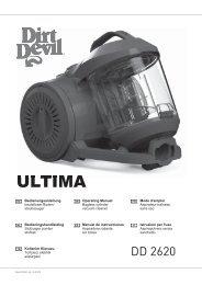 Dirt Devil Ultima grey - Bedienungsanleitung für den Dirt Devil Ultima DD2620-1,-2,-3