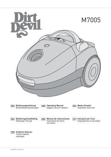 Dirt Devil Jam - Bedienungsanleitung für den Dirt Devil M7005,-1,-2,-3,-4