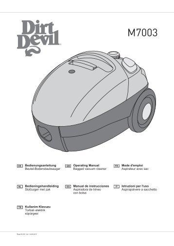Dirt Devil Chubby Melon - Bedienungsanleitung für den Dirt Devil M7003-1, -2, -3