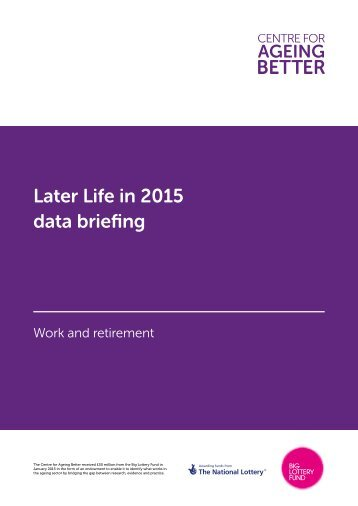 Later Life in 2015 data briefing