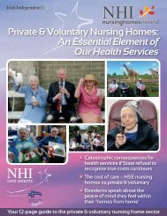 Private & Voluntary Nursing Homes An Essential Element of Our Health Services