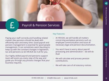 9_HR4UK Payroll and Pension