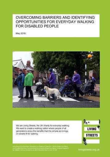 OPPORTUNITIES FOR EVERYDAY WALKING FOR DISABLED PEOPLE