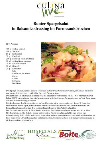 Bunter Spargelsalat in Balsamicodressing im ... - Culina live