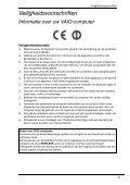 Sony VPCEA2C5E - VPCEA2C5E Documenti garanzia Olandese - Page 5