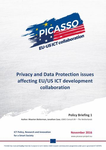 Privacy and Data Protection issues affecting EU/US ICT development collaboration