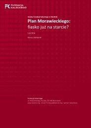 Plan Morawieckiego fiasko już na starcie?