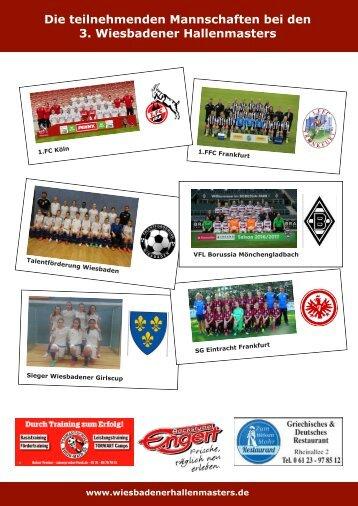 Seite 5 Turnierheft Mannschaftsfotos