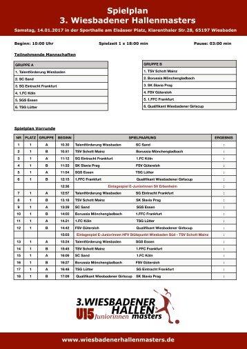 Seite 6 Turnierheft Spielplan