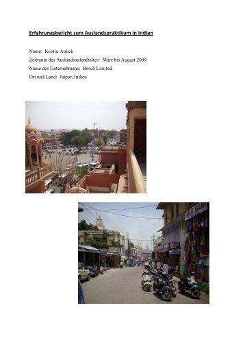 Praktikum bei Bosch in Jaipur - bayerisch-indisches zentrum