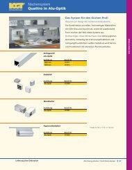 Quattro in Alu-Optik Nischensystem - Trenz AG