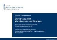Wohntrends 2020. Wohnkonzepte und Mehrwert. - EBZ Business ...