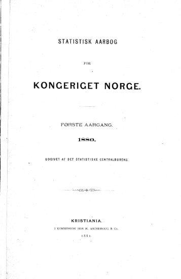 Norway Yearbook - 1880