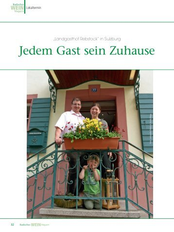kontakt - Landgasthof Rebstock Sulzburg