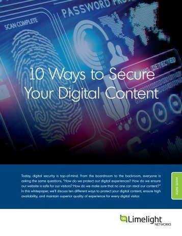 10 Ways to Secure Your Digital Content