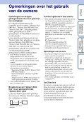 Sony DSC-TX7 - DSC-TX7 Istruzioni per l'uso Olandese - Page 3