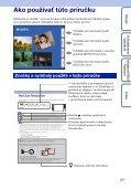 Sony DSC-TX7 - DSC-TX7 Istruzioni per l'uso Slovacco - Page 2