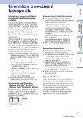 Sony DSC-TX7 - DSC-TX7 Istruzioni per l'uso Slovacco - Page 3