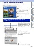 Sony DSC-TX7 - DSC-TX7 Istruzioni per l'uso Norvegese - Page 2