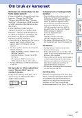 Sony DSC-TX7 - DSC-TX7 Istruzioni per l'uso Norvegese - Page 3
