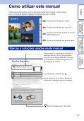 Sony DSC-TX7 - DSC-TX7 Istruzioni per l'uso Portoghese - Page 2