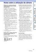 Sony DSC-TX7 - DSC-TX7 Istruzioni per l'uso Portoghese - Page 3
