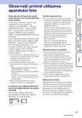 Sony DSC-TX7 - DSC-TX7 Istruzioni per l'uso Rumeno - Page 3