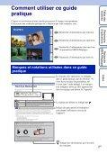 Sony DSC-TX7 - DSC-TX7 Istruzioni per l'uso Francese - Page 2