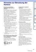 Sony DSC-TX7 - DSC-TX7 Istruzioni per l'uso Tedesco - Page 3