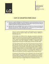 COP 22 DESAFÍOS PARA CHILE