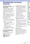 Sony DSC-TX7 - DSC-TX7 Istruzioni per l'uso Danese - Page 3