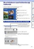 Sony DSC-TX7 - DSC-TX7 Istruzioni per l'uso Turco - Page 2
