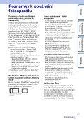Sony DSC-TX7 - DSC-TX7 Istruzioni per l'uso Ceco - Page 3
