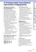 Sony DSC-TX7 - DSC-TX7 Istruzioni per l'uso Ungherese - Page 3