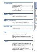 Sony DSC-TX7 - DSC-TX7 Istruzioni per l'uso Svedese - Page 6