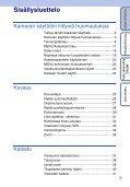 Sony DSC-TX7 - DSC-TX7 Istruzioni per l'uso Finlandese - Page 5