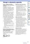 Sony DSC-TX7 - DSC-TX7 Istruzioni per l'uso Polacco - Page 3